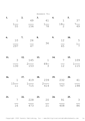 Simplify by 7 Problem Set C Answers